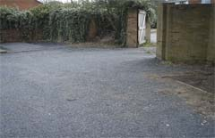 A sustainable parking surface helps reduce the risk of future flooding